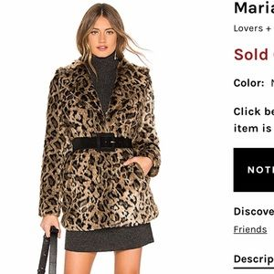 NWT Lovers + Friends Mariana Faux Fur Coat